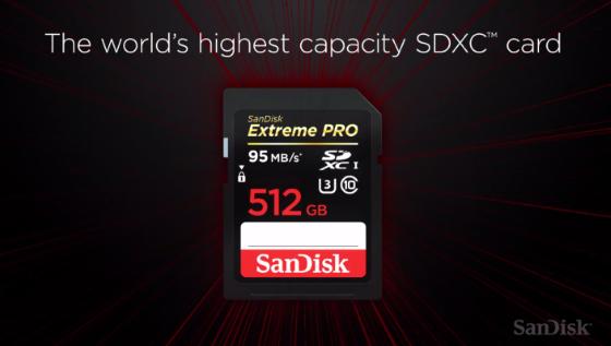 Sandisk порадовала новой картой памяти на 512 Гб