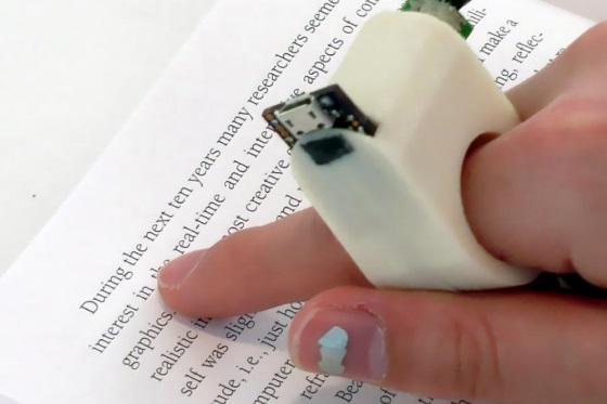 FingerReader – кольцо умеющее читать