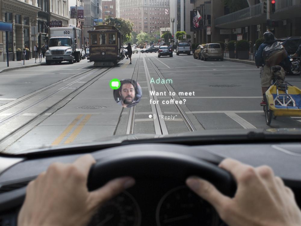 Стартап Navdy научит выводить любую информацию на стекло автомобиля