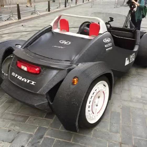 Автомобиль напечатанный на 3D-принтере сумел развить скорость до 64 км/ч