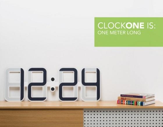 ClockOne – большие E-Ink часы