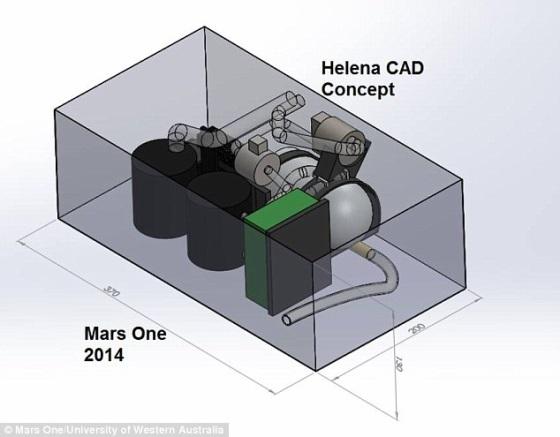 Helena – аппарат для получения кислорода на Марсе