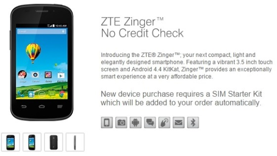 ZTE Zinger – Android смартфон за 50 долларов