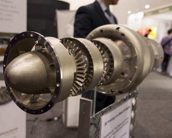 Первый напечатанный на 3D принтере реактивный двигатель