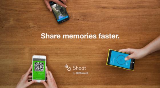 BitTorrent Shoot – новое приложение для передачи файлов между мобильными устройствами