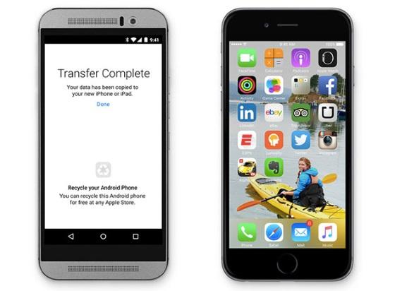 Apple выпустит приложение для легкого перехода с Android на iOS