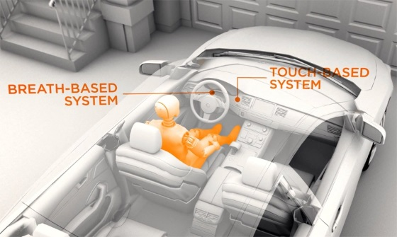 Двухуровневая система защиты не позволит пьяным водителям завести машину