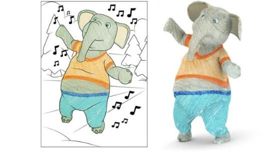 Disney собирается выпускать трехмерные раскраски для детей
