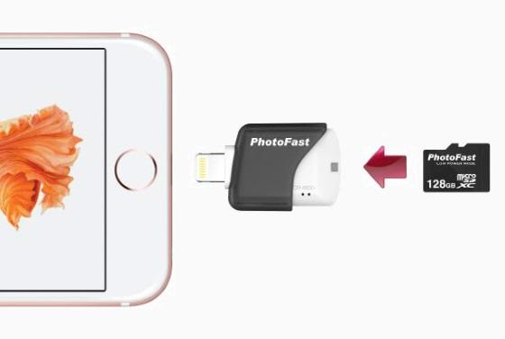 PhotoFast CR-8000 добавит в iPhone поддержку microSD