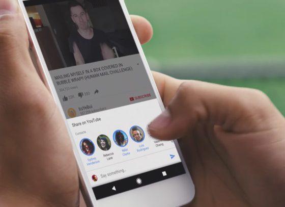 YouTube начал внедрять аналог встроенного мессенджера