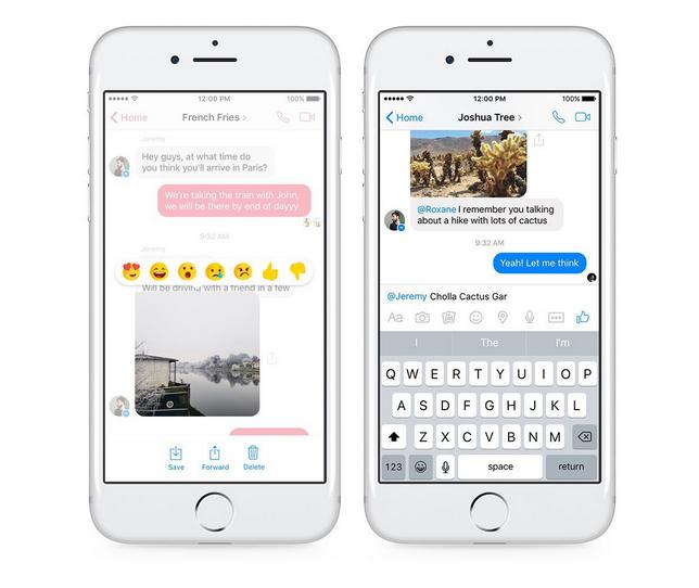 Facebook Messenger получил поддержку эмоций