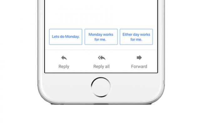 Gmail будет подсказывать вам подходящие ответы