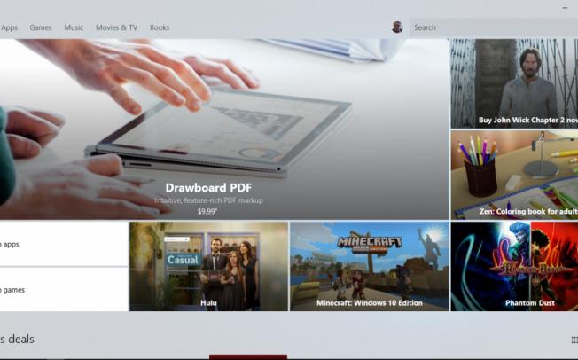 Windows Store получил акриловый интерфейс