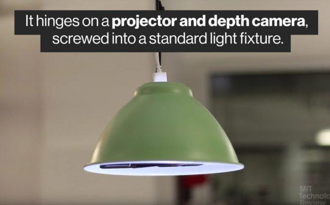 Desktopography – лампа меняющая представление об интерфейсе