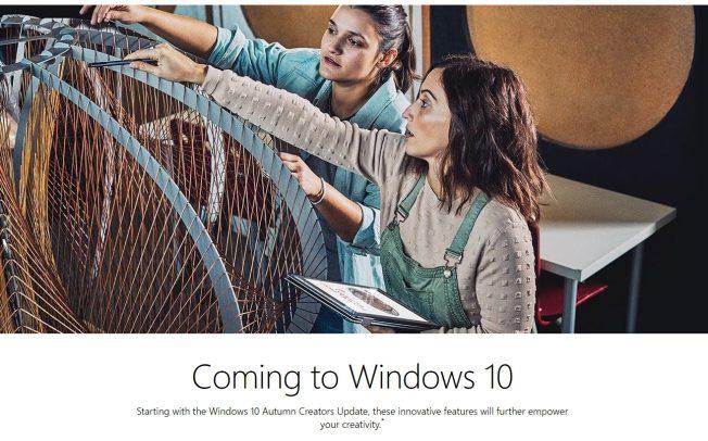 Windows 10 Autumn Creators Update как возможное имя обновления