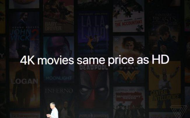 iTunes начнет показ фильмов с разрешением 4K