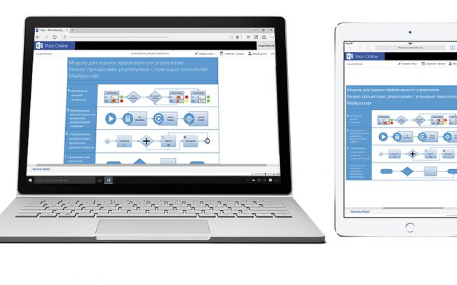 Microsoft Visio Online стал бесплатен
