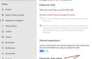 Windows 10 позволит удалять отправленную телеметрию прямо из настроек