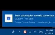 Google Chrome для Windows 10 начал использовать системные уведомления