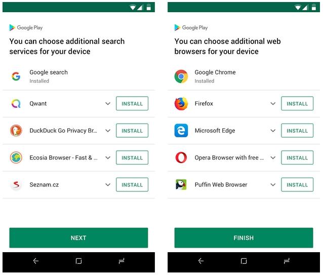 Google предложит пользователям Android в ЕС выбрать при первом запуске браузер и поисковик